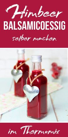 Himbeer-Balsamico-Essig I like to use this raspberry balsamic vinegar for summer salads, it tastes w Types Of Fruit, Balsamic Vinegar, Summer Salads, Summer Drinks, Hot Sauce Bottles, Small Gifts, Salad Recipes, Food And Drink, Homemade