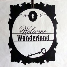Welcome to Wonderland Cutout Decoration by tucker reece, via Etsy.