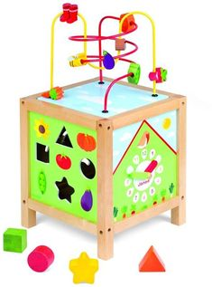 Janod Garden Themed Maxi Activity Cube | Toddler toys #toys #toddler #kids #affiliate
