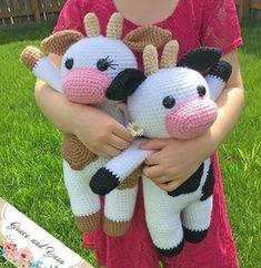 Amigurumi Cow - A Free Crochet Pattern | Grace and Yarn