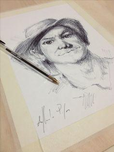 Disegno a penna a inchiostro da me realizzato. 2016 Alfredo Papa