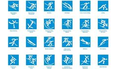 PyeongChang 2018 officially unveiled sport pictograms for the Olympic Winter Games Olympic Idea, Olympic Sports, Olympic Games, Nordic Combined, Bobsleigh, Freestyle Skiing, Sports Signs, Pyeongchang 2018 Winter Olympics, Olympic Weightlifting