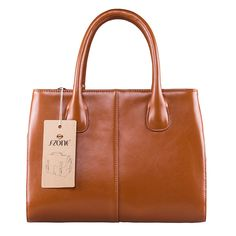 """S-ZONE Lady's Genuine Leather Shoulder Bag Tote Top-handle Purse Cross-body Handbag Large Size. Dimension(L*W*H):13.3""""x5.5""""x9.5""""/34x14x24CM,and the weight is about 2.5 pounds. Materials:Genuine split cow leather. High quality light gold metal hardware and luxury durable polyester nylon lining. Internal structure: two generous main pockets, one interior zippered pocket, and one cell phone pocket,one ID slot. Have 1 invisible zippered pocket inside,too. Top Zipper closure for your security...."""