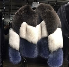 Color block fur