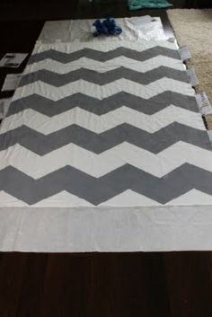 Schenk Sightings: Guest Room Series: Painted Chevron Curtain