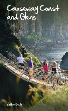 Carrick-a-Rede Rope Bridge, Antrim Coast, Northern Ireland.