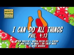 Kids Worship Songs: I Can Do All Things (With Motions Leader) Choir Songs, Bible Songs, Kids Worship Songs, Kids Songs, Make A Joyful Noise, Church Music, Worship Leader, Godchild, Memory Verse