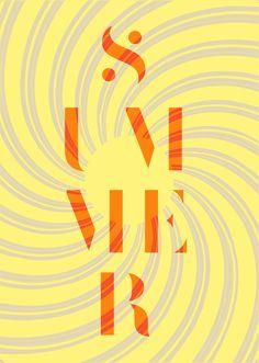 Summer Poster by Kilian Feller, via Behance By Kilian, Summer Poster, Behance, Symbols, Posters, Graphics, My Love, Inspiration, Design