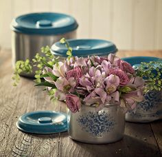 Potes de mantimentos garantem o estoque de charme na casa quando usados como vasos