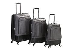 Rockland Luggage Milan Hybrid Eva 3 Piece Luggage Set Grey One Size * This is an Amazon Affiliate link. Visit the image link more details.