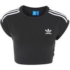 3 Stripe Crop Top by Adidas Originals Adidas Shirt, Adidas Outfit, Adidas Jacket, Crop Top Und Shorts, Crop Shirt, Cami Tops, Women's Tops, Striped Crop Top, Stripe Top