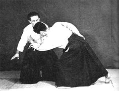 Second Doshu Kisshomaru Ueshiba and Chiba sensei as Uke Artículo en Español: http://www.aikidosphere.com/kc-s-memorias-de-doshu