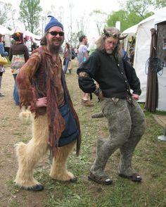 Goat pants by Reyen Designs. Hathor horns on Paul at Spoutwood Fairy Fest