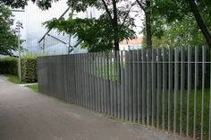 Steel Blade Fence at the Jewish Museum, Berlin