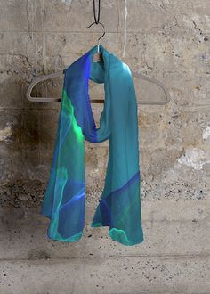 Cashmere Silk Scarf - light blue by VIDA VIDA V0Z1DyDB1
