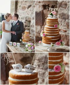 naked wedding cake, cakes by becky, cute cake toppers, high house farm brewery, healey barn, high house farm wedding, matfen wedding, matfen brewery, quirky wedding venue, northumberland, katie byram photography, hay bales wedding, bride and groom, farm wedding