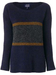 Shop Woolrich colour block jumper.