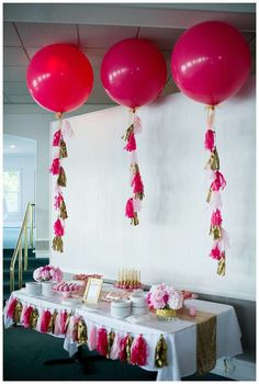 Big balloons at a glam 40th birthday party! See more party planning ideas at CatchMyParty.com!
