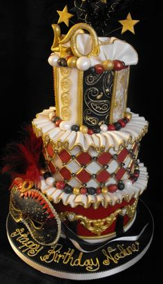 Harlequinn Masquerade Cake my Grandma p would of l0ved this!