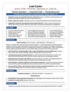 teacher aide resume example for betty she is a mom who had