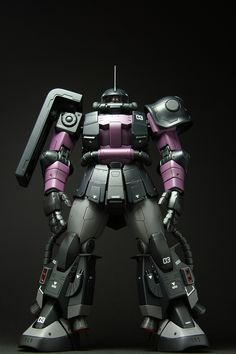 MG MS06R-1A Zaku II Black Tri-Stars Gaia Custom: Painted Build, Big Size Images
