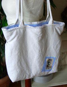 Shopper Tasche von White Roses auf DaWanda.com - VERKAUFT -