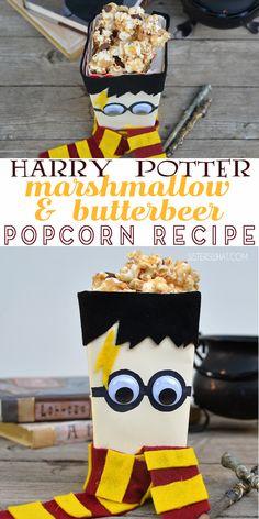 Harry Potter Marshmallow & Butterbeer Popcorn Recipe Harry Potter Marshmallow & Butterbeer Popcorn Recipe – Sisters, What! Harry Potter Snacks, Harry Potter Birthday, Harry Potter Movies, Potter Box, Harry Potter Marathon, Marshmallow Popcorn, Butterbeer Recipe, Sweet Popcorn, Chantal