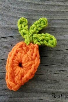 Free Crochet Pattern...Farmer's Market Carrot Applique!
