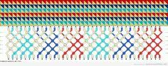 Patrón pulsera de macramé con estampado de triángulos