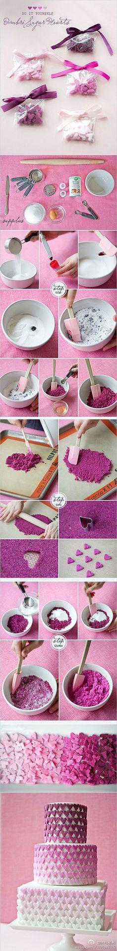 #DIY #HowTo Hearts for Heart Cake