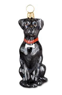 Labrador Retriever Black Lab Dog Christmas Ornament at For Love of ...