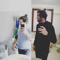 Pushin' the bathroom selfie game on a whole new level.  #brotherhood #bros #brosgoals #selfie #tail #embarassing #embarassyourbestfriendday #shameless