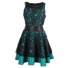 Kate Fearnley Womens Green Lace Skater Dress (240 AUD) ❤ liked on Polyvore featuring dresses, peter pan dress, peter pan collar dress, open back sequin dress, sequin skater dress and collared skater dress