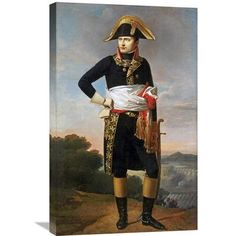 Global Gallery Portrait of Napoleon Painting Print on Wrapped Canvas
