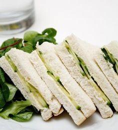 Classic cucumber tea sandwich