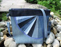 Jeanstaschen als Fächertaschen • Stoff und Zwirn