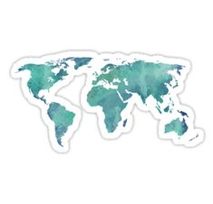Water color map in turquoise and blue • Also buy this artwork on stickers, apparel, phone cases, and more.