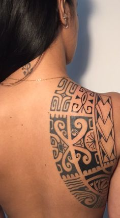 Tribal Back Tattoos, Polynesian Tribal Tattoos, Tribal Tattoos For Women, Sleeve Tattoos For Women, Tattoos For Guys, Small Tattoos, Badass Tattoos, Body Art Tattoos, Tatoos