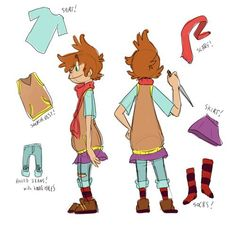 See told you, Sock has a very disastrous fashion taste. O~O omg look at that…