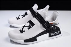 5043f02ff2d2b 2018 OFF-WHITE x Pharrell x adidas NMD Hu Race Trail Light Grey Black