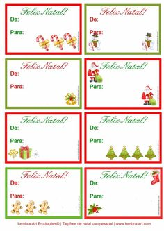 Tag de natal printabletags gratuitas de natal, para você colocar nos…                                                                                                                                                     Mais