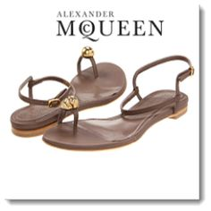 Alexander McQueen Skull Toe Ring Flat