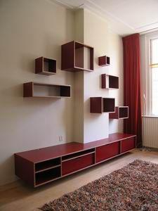 wandkast in berken multiplex (CRANSBERG meubelmakerij)