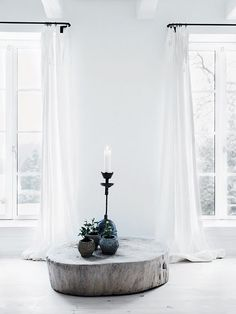 Style Inspiration, White Interior, Earthy Elements, maybe when I repaint Leah's old room!