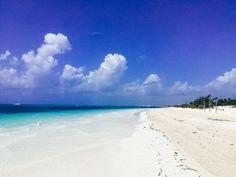 Beautiful blues and a pure-white sand beach at Secrets Maroma Beach.