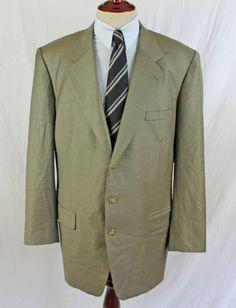 ERMENEGILDO ZEGNA Blazer Sport Coat Jacket Trofeo Australian Wool 44 L 3 Button #ErmenegildoZegna #ThreeButton