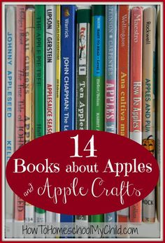 apple crafts from 14 books about apples   HowToHomeschoolMyChild.com