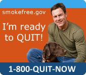 Smokefree.gov 1-800-QUIT-NOW #quitsmoking