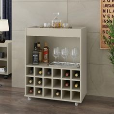 Canto Bar, Mini Bar, Wine Station, Wine Bar Cabinet, Wine Rack Design, Home Tv, Bars For Home, Home Renovation, Off White