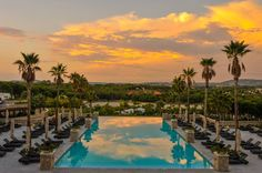 Portugal sunsets are even more spectacular standing on the balcony at Conrad Algarve.